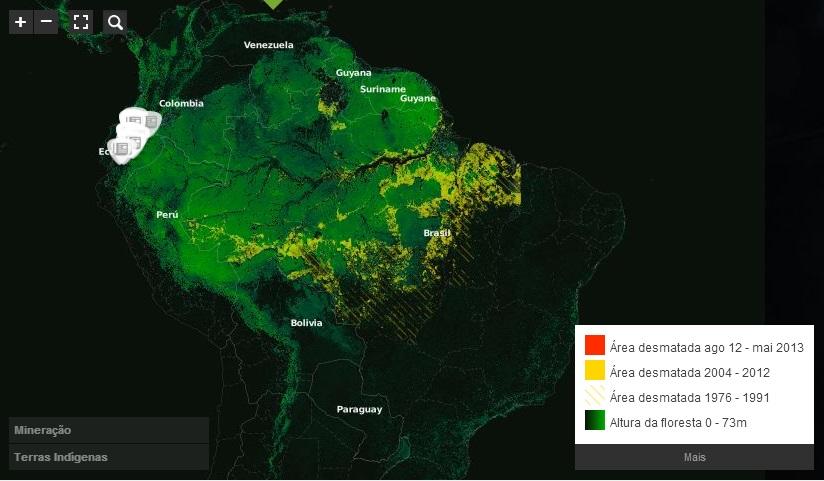 Mapa: Desmatamento