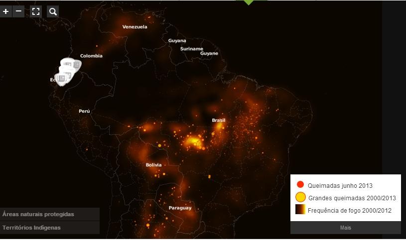 Mapa: Fogo
