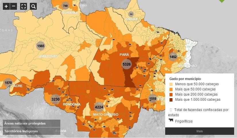 Mapa: Gado