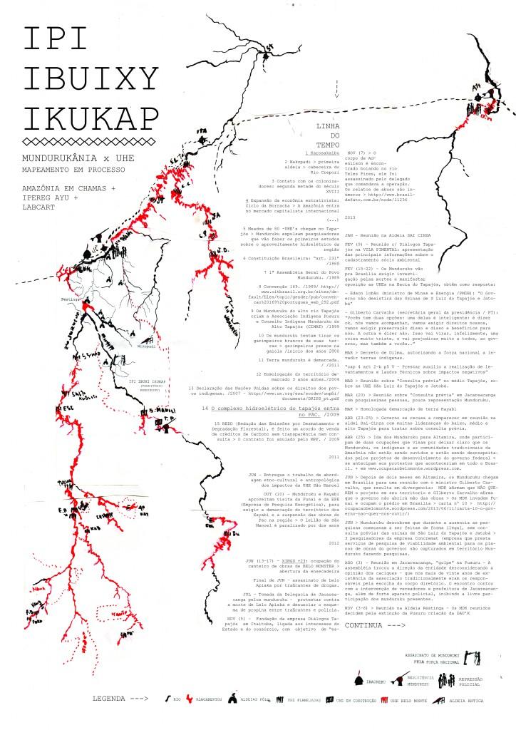 Cartografia em desenvolvimento sobre os processos de violência de estado X a resistência dos povos da floresta aos grandes projetos neocolonialistas para a amazônia