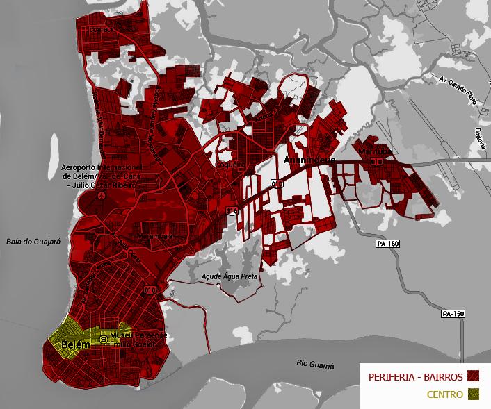 uma imagem da relação periferia-centro na capital paraense.